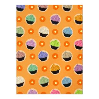 Cupcakes pattern 17 cm x 22 cm invitation card