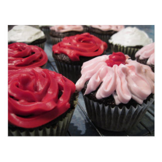 Cupcakes Red and Pink Postcard