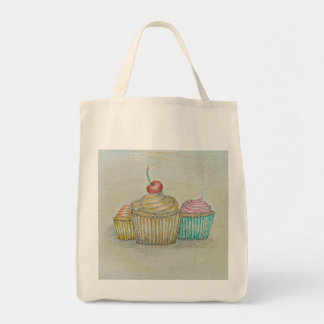 cupcakes grocery tote bag