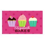 Cupcakes Trio Polka Dot Business Card