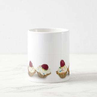 cupcakes with raspberries coffee mug