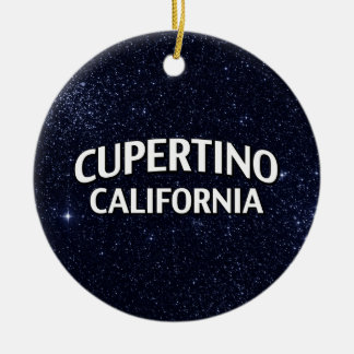 Cupertino California Ceramic Ornament