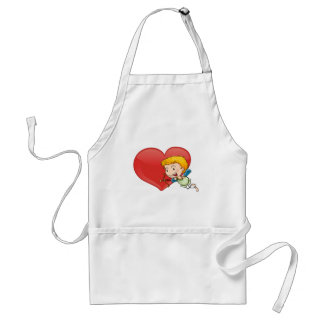 Cupid and heart standard apron