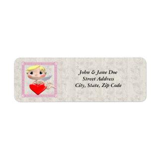 Cupid And Heart Return Address Label