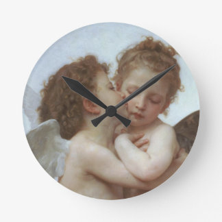 Cupid and Psyche as Children Round Clock