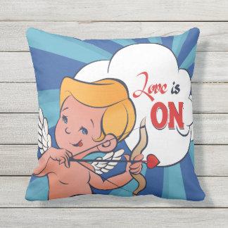 Cupid archer turn Love is On  Pop-Art Cushion