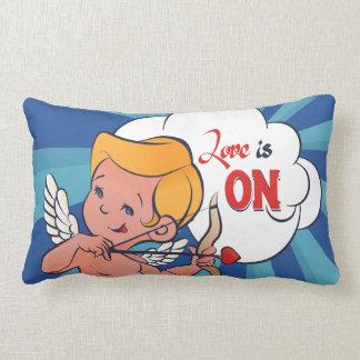 Cupid archer turn Love is On  Pop-Art Lumbar Cushion