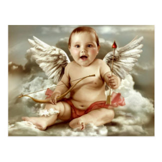 cupid baby postcard