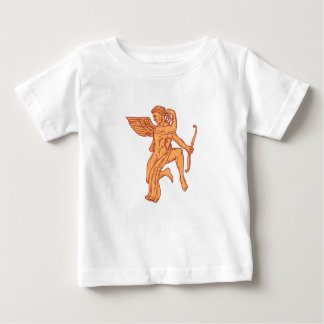 Cupid Bow Drawing Arrow Mono Line Baby T-Shirt