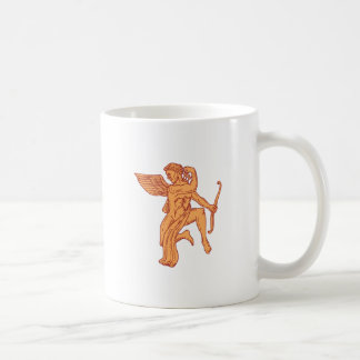 Cupid Bow Drawing Arrow Mono Line Coffee Mug