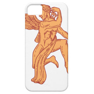 Cupid Bow Drawing Arrow Mono Line iPhone 5 Case