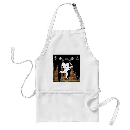 CUPID BRICK BACKGROUND PRODUCTS APRONS
