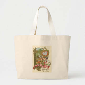 Cupid Cherub Angel Heart Cottage Jumbo Tote Bag