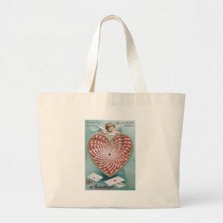 Cupid Cherub Angel Kaleidoscope Jumbo Tote Bag