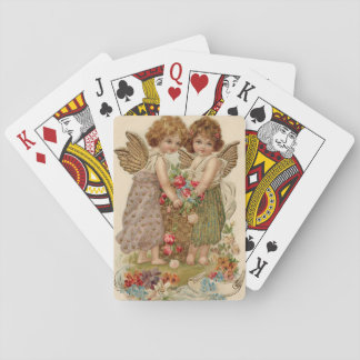 Cupid Cherub Angel Rose Forget-Me-Not Playing Cards