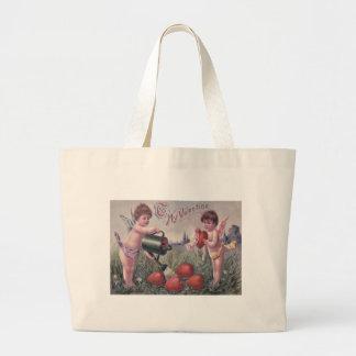 Cupid Cherub Angel Watering Heart Jumbo Tote Bag