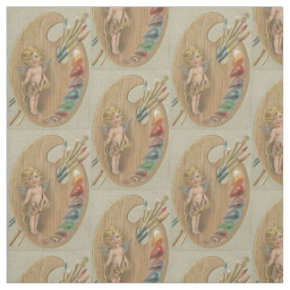 Cupid Cherub Paint Painting Brush Palette Fabric