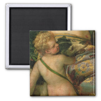 Cupid, detail from Venus and Adonis, 1580 Square Magnet