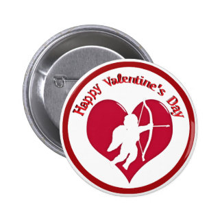 Cupid for Valentine s Day Pinback Button