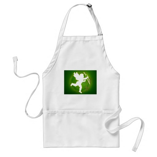CUPID GREEN BACKGROUND PRODUCTS APRON