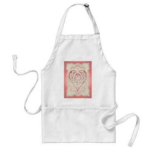 CUPID HEARTS & LACE by SHARON SHARPE Apron