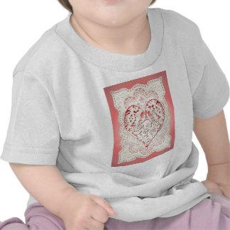 CUPID HEARTS LACE by SHARON SHARPE Tee Shirts