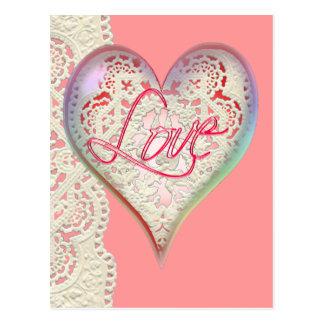 CUPID HEARTS LOVE & LACE by SHARON SHARPE Postcard
