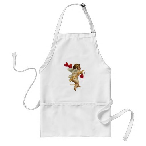 Cupid Hearts On a String Apron