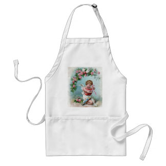 Cupid holding Heart Adult Apron
