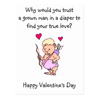 Cupid Humor Valentines Day Postcards