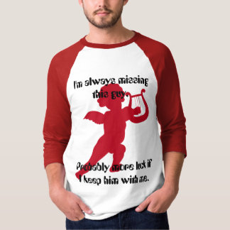 Cupid I'm missing Men's Basic 3/4 Sleeve Raglan T- T-Shirt