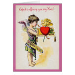 Cupid Is Offering You My Heart Greeting Card