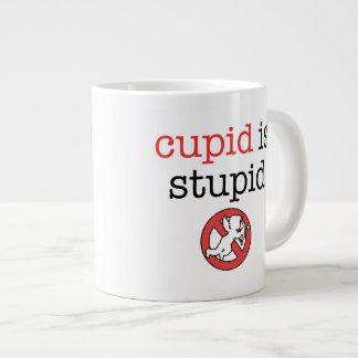 Cupid Is Stupid Anti-Valentine's Day Jumbo Mug
