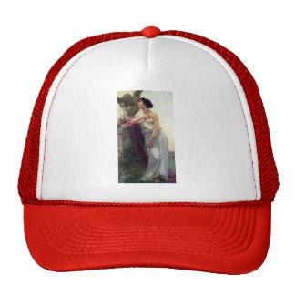 Cupid love woman romantic antique painting cap