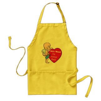 Cupid Missed Gifts Adult Apron