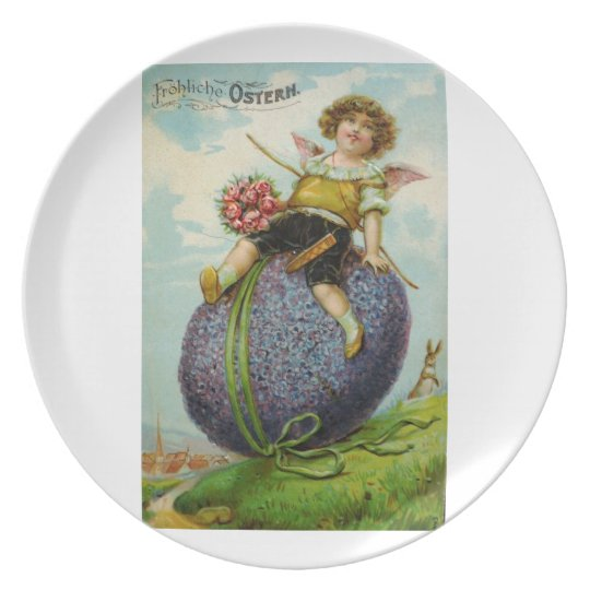 Cupid on Easter Egg Plate