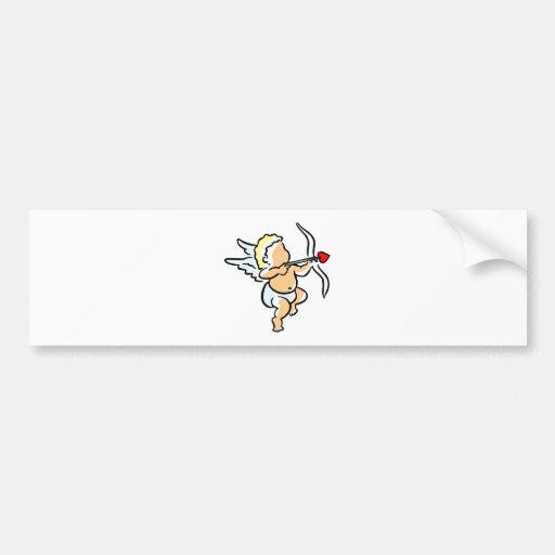 Cupid On Valentine'S Day Watch Bumper Sticker