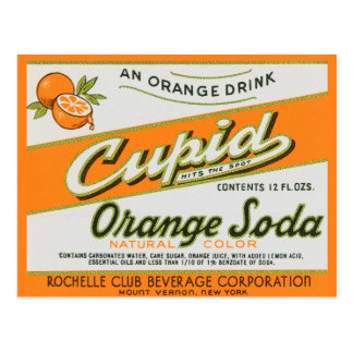Cupid Orange Soda Postcard