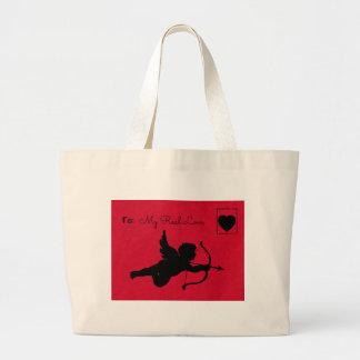 Cupid postcard jumbo tote bag