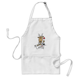 Cupid Reindeer Christmas Tshirts and Gifts Standard Apron