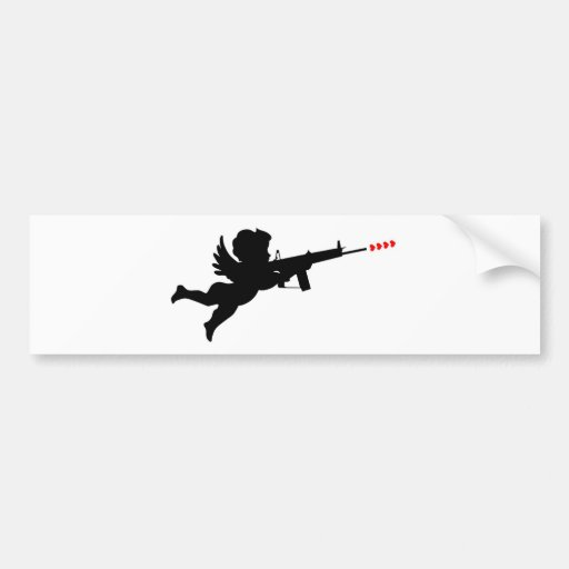 cupid shooting bumper sticker