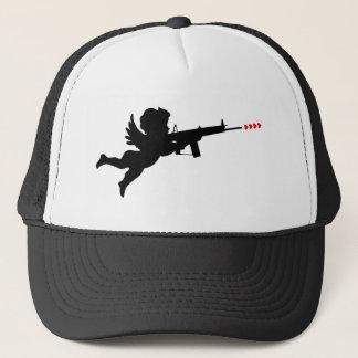 cupid shooting trucker hat