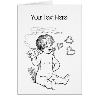 Cupid Smoking Vday Stationery Greeting Card