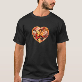 Cupid Sweethearts Candy Rose Collage T-Shirt