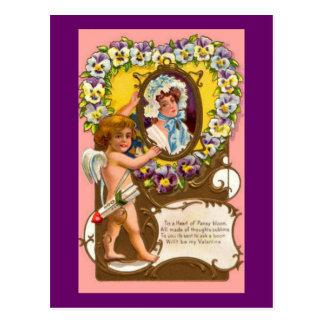 Cupid Vintage Valentine's Postcard