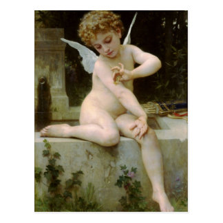 Cupid With a Butterfly by William Bouguereau Postcard