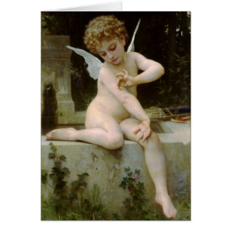 Cupid with a Butterfly Card
