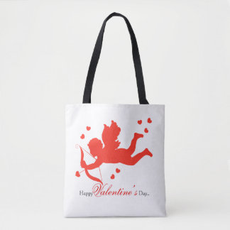 Cupid with red hearts Allover print bag