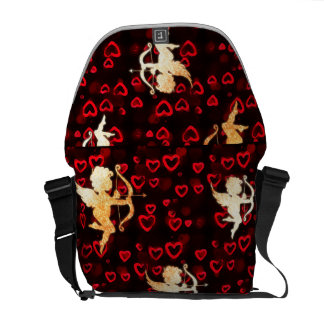 Cupids and Hearts Messenger Bags