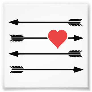 Cupid's Arrow Valentine's Day Heart Photo